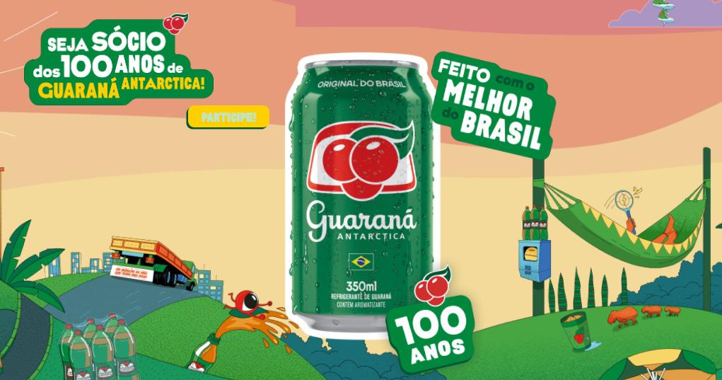 Promoção Guaraná Antarctica 100 Anos | Um Trocadinho de Presente - Concorra  a prêmios de R$500!