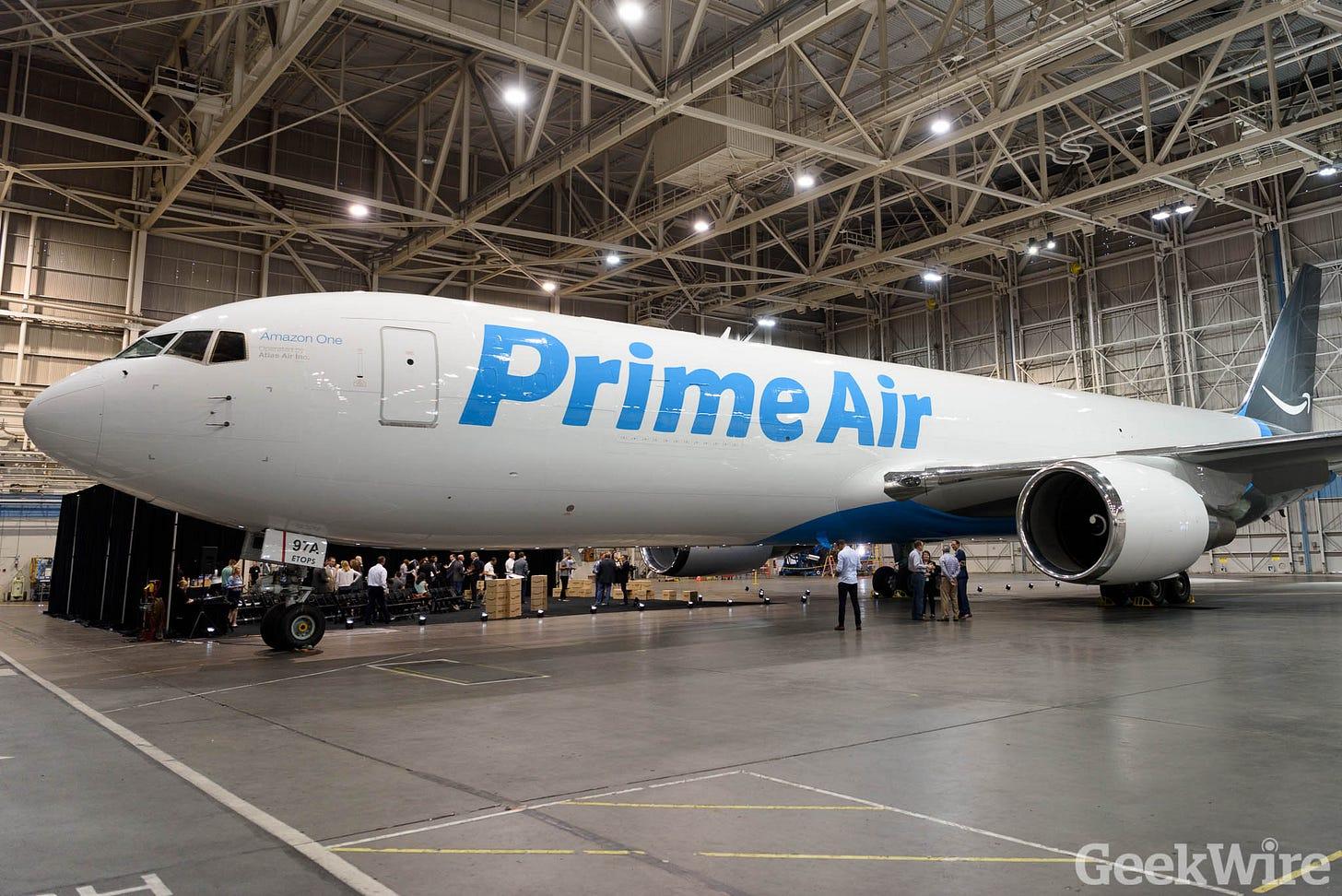 Amazon Prime airplane debuts after secret night flight - GeekWire