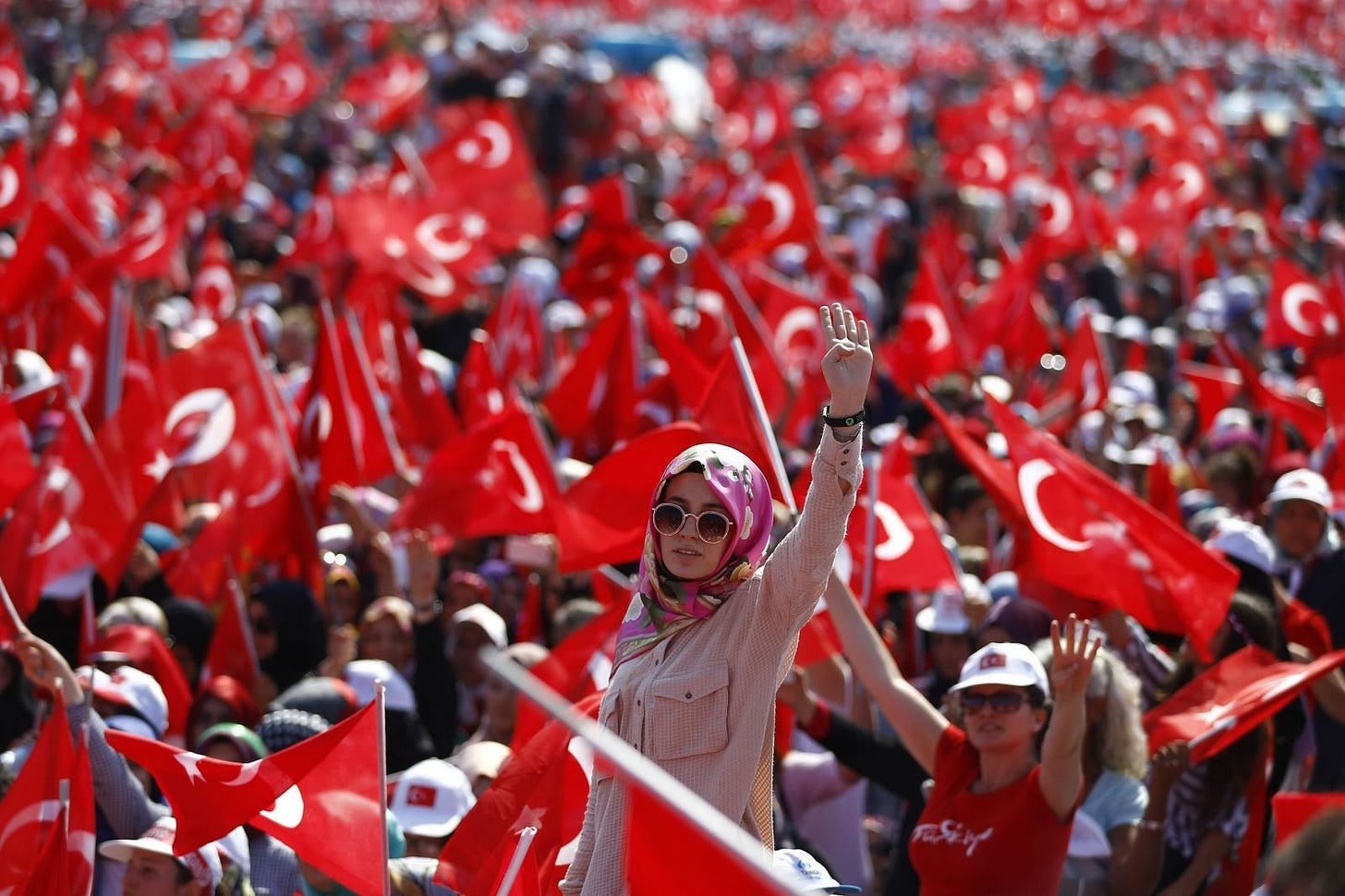 Supporters of President Erdogan hold huge pro-government rally in ...