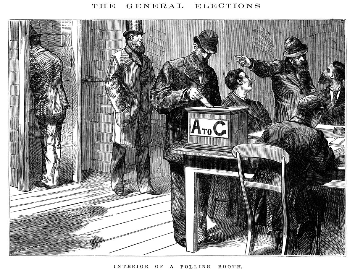 """File:""""Interior of polling booth"""" - David Syne and Co (1880).jpg - Wikipedia"""