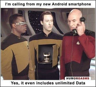 Is this image of Picard using Data as a phone from an actual episode? -  Science Fiction & Fantasy Stack Exchange