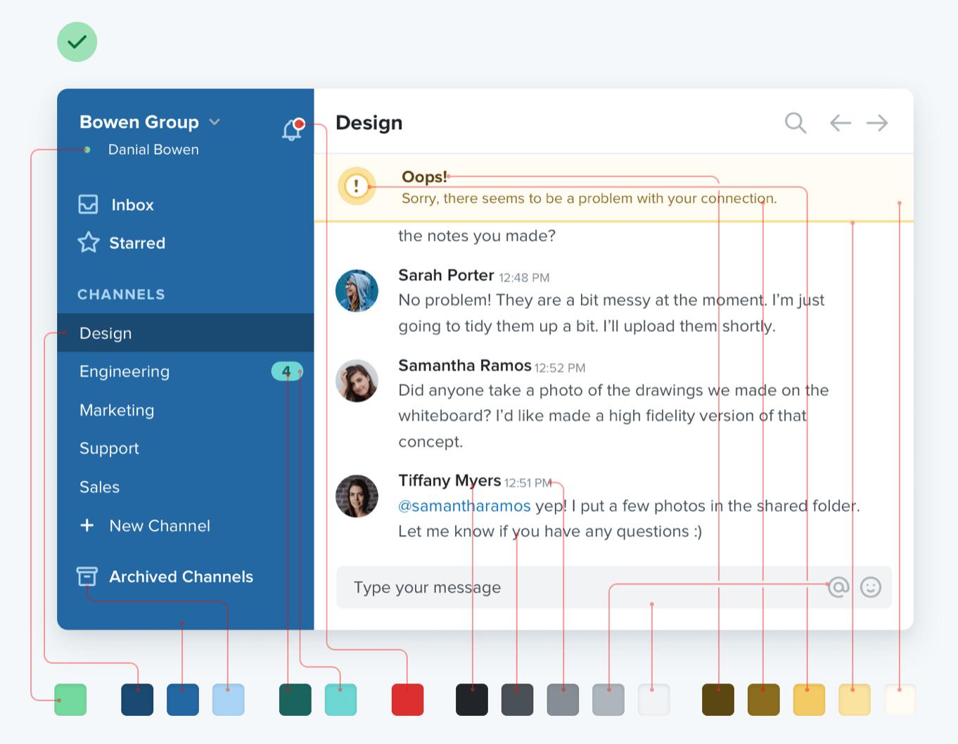 Refactoring UI's color palette guide