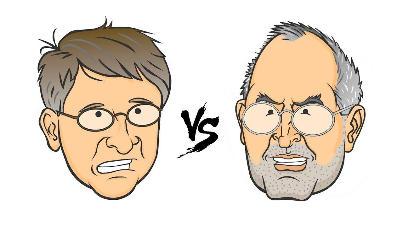 Image result for gates vs jobs