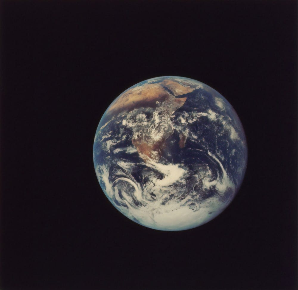 planet earth close-up photography
