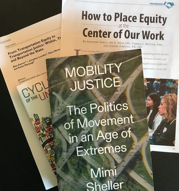 A syllabi list on transportation, race and equity.