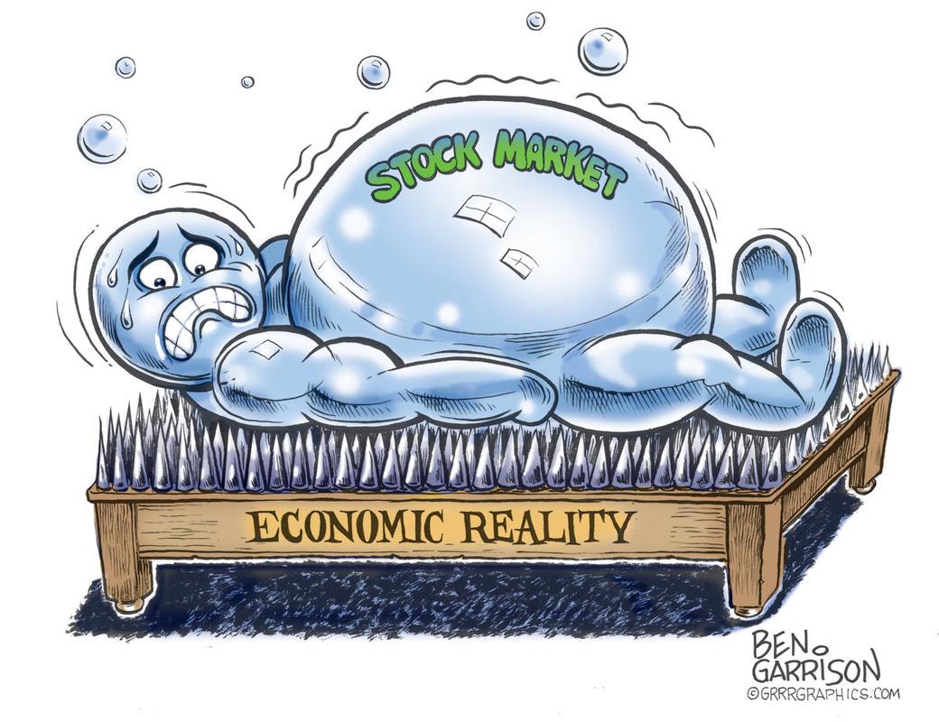 Mr. Stock Market Bubble, When will he POP? – Grrr Graphics