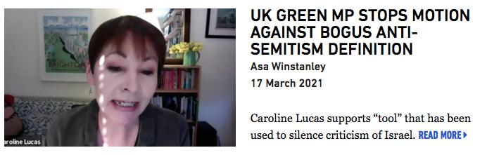 UK Green MP stops motion against bogus anti-Semitism definition