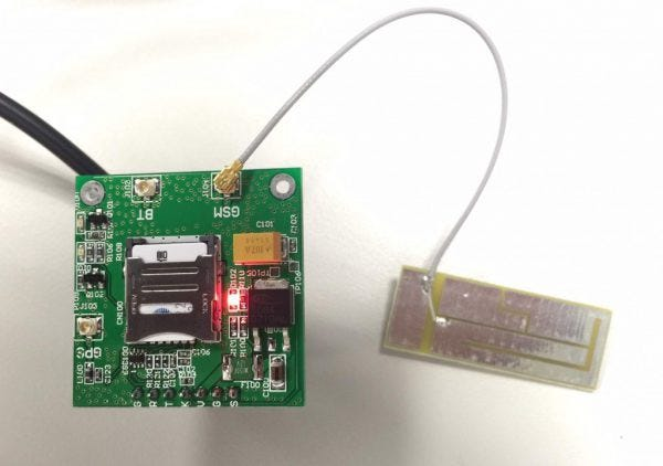 GSM模組的天線設計例。