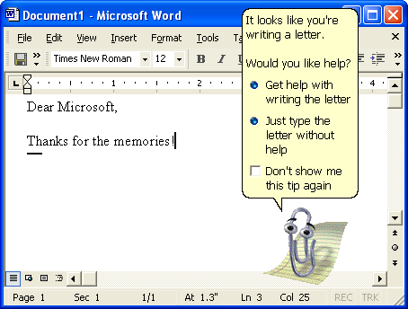 The Life and Death of Microsoft Clippy, the Paper Clip the World ...