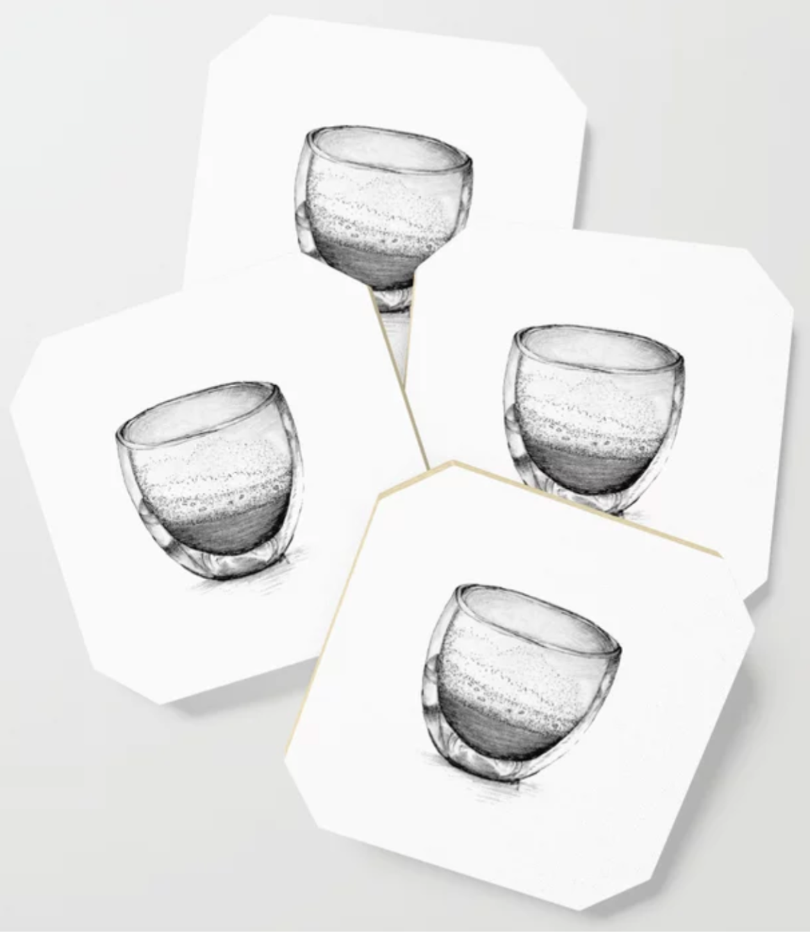 You are made for a purpose | Coffee glass illustration Coaster