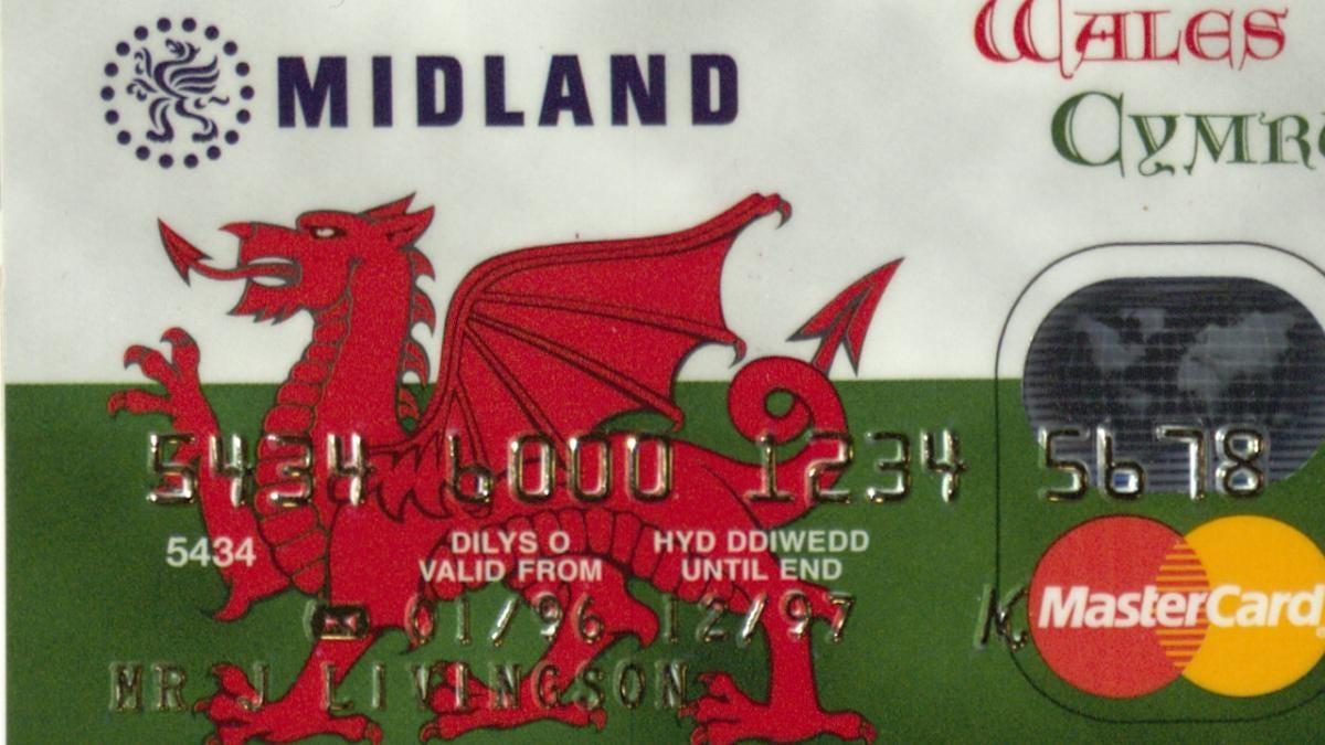 Midland Bank offered a Welsh-language credit card