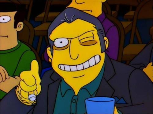 Image - Fat Tony Thumbs Up.jpg - Simpsons Wiki