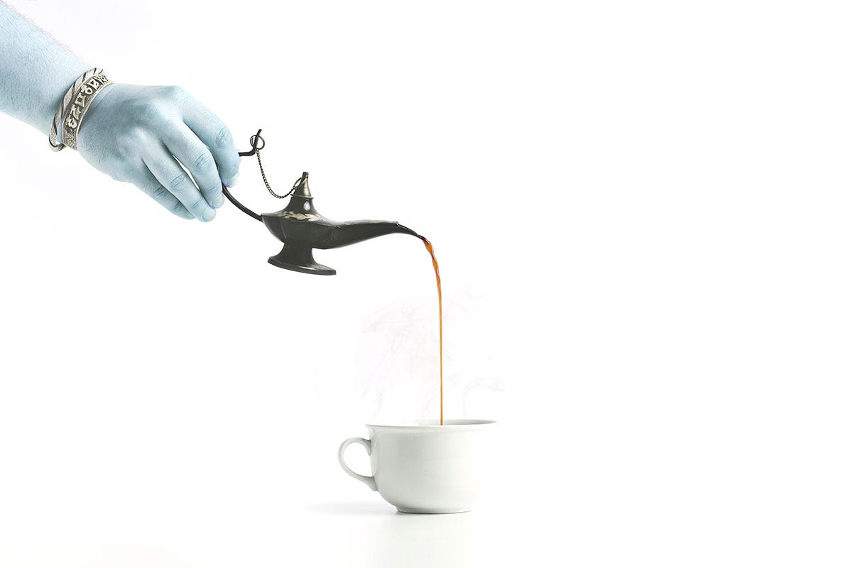 Witch Pouring Potion into Cup