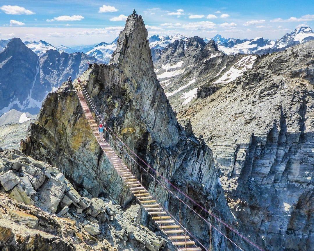 Long mountain bridge