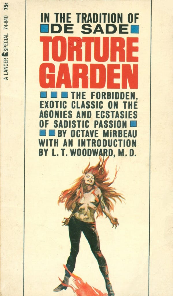 Octave Mirbeau - Torture Garden PBK 1965 | Cover art by Fran… | Flickr