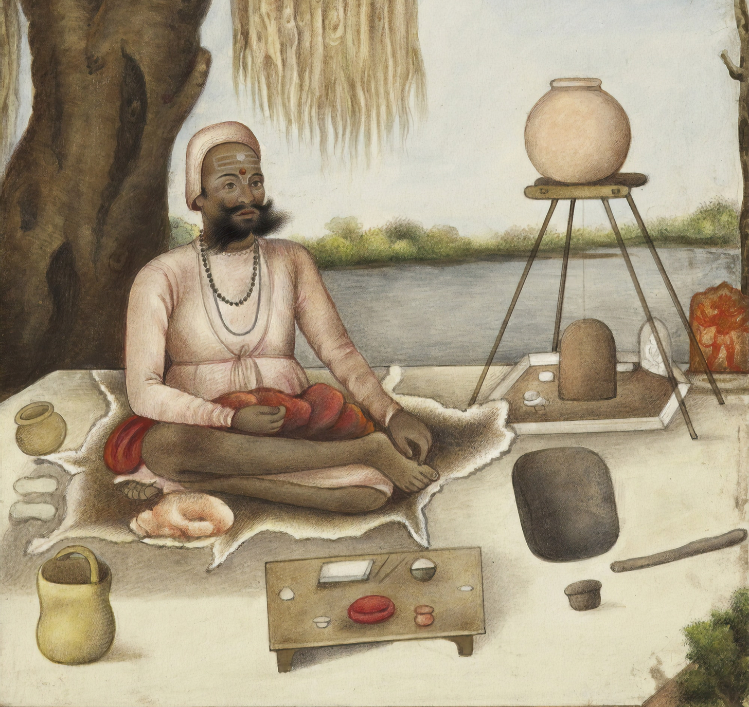 Tribes and Castes of India. 'Sannyasi' a Saiva mendicant. Circa 1825