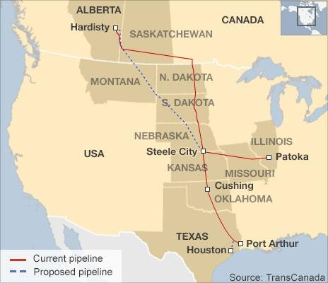 Map of pipeline