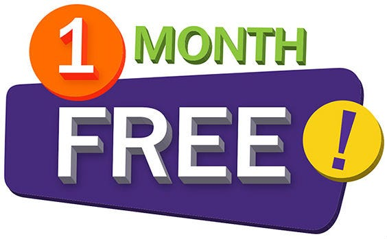 Image result for one month free