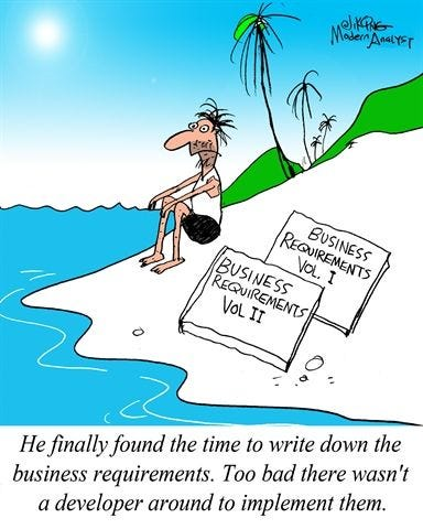 Humor - Cartoon: Finally... The Requirements Document is ...