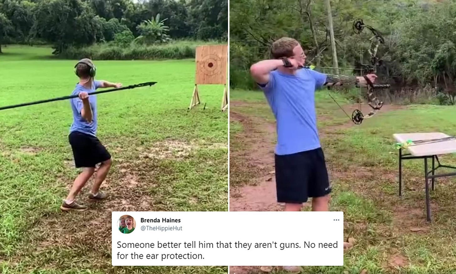 Mark Zuckerberg posts bizarre video of himself throwing spears while  wearing ear protectors | Daily Mail Online