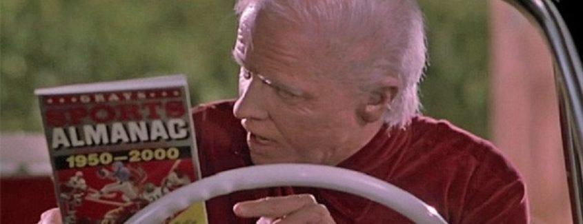Biff Tannen with the almanac
