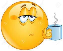 Tired Emoji Emoticon Holding Coffee Morning Mug Royalty Free Cliparts,  Vectors, And Stock Illustration. Image 153945831.