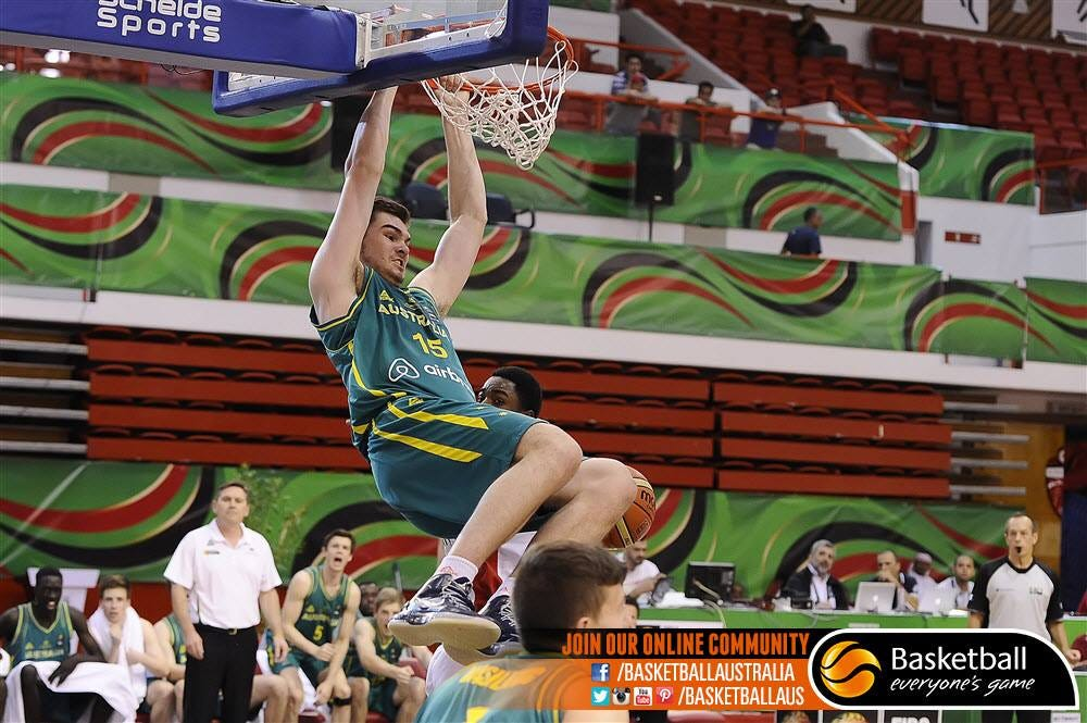 Isaac Humphries | Photo courtesy FIBA - via Basketball Australia