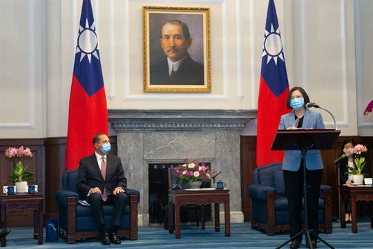 How Much Will Azar's Trip to Taiwan Provoke China?