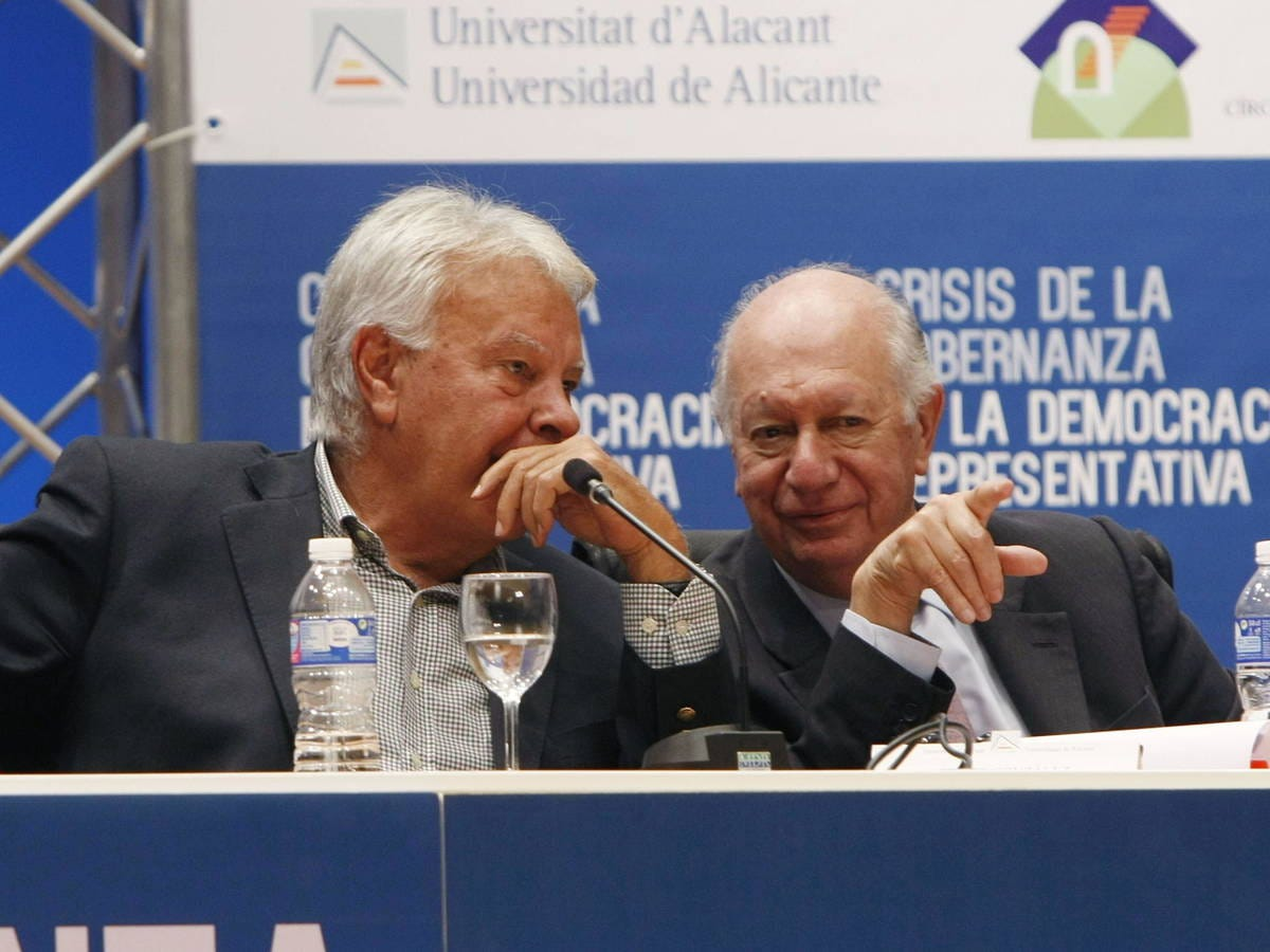 Foto: Felipe González y Ricardo Lagos. (EFE)