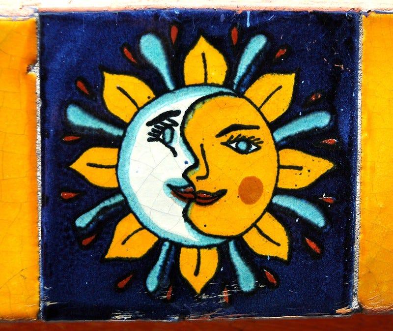 A sun and moon symbol