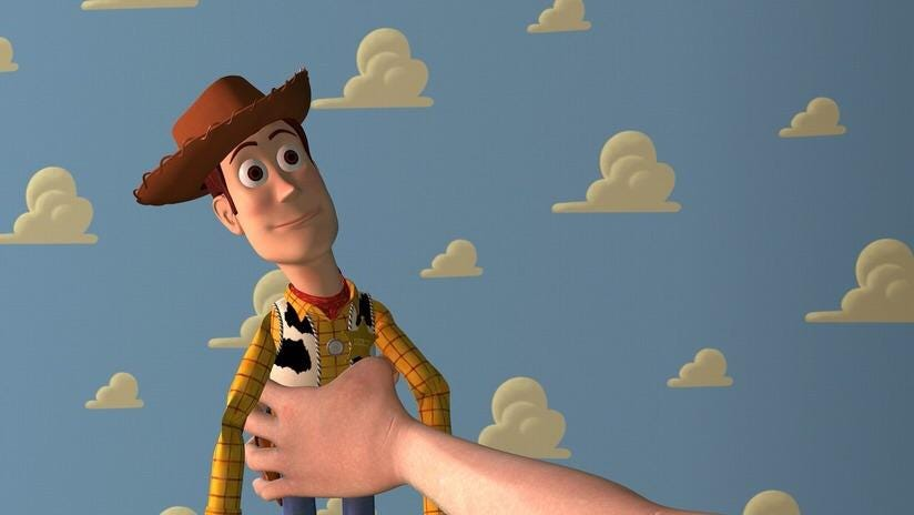 """In the 1995 animated film """"Toy Story"""", Sheriff Woody had an unhealthy  obsession with Andy's mom. Many scenes had to be cut last minute due to the  overwhelmingly negative critical response provided"""