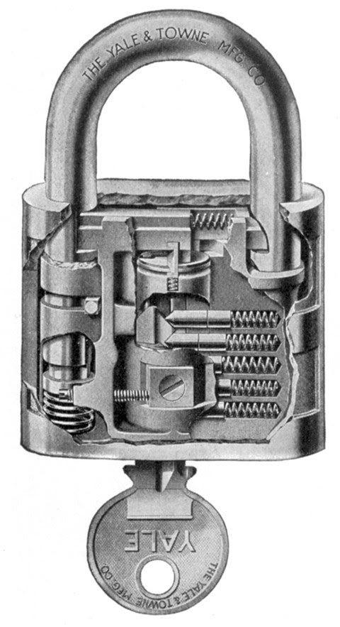 A Yale padlock