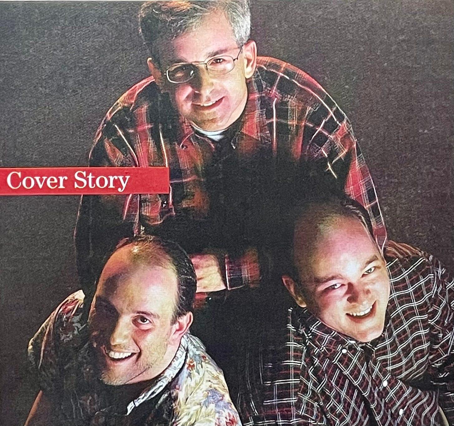 Photo of me, Ben Slivka, and J Allard.