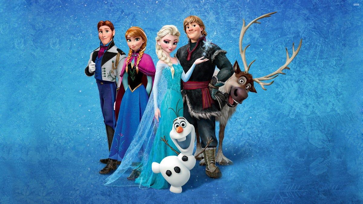 Painel Infantil Lona fosca Frozen 1,50m x 1,00m no Elo7 | WRio Festas  (A4F4D9)