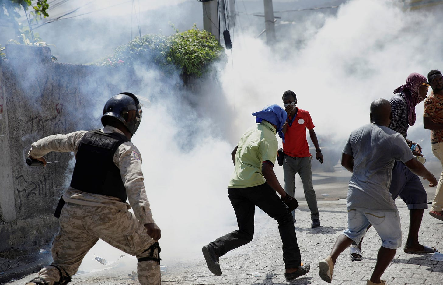 Haitian police and protests.jpg
