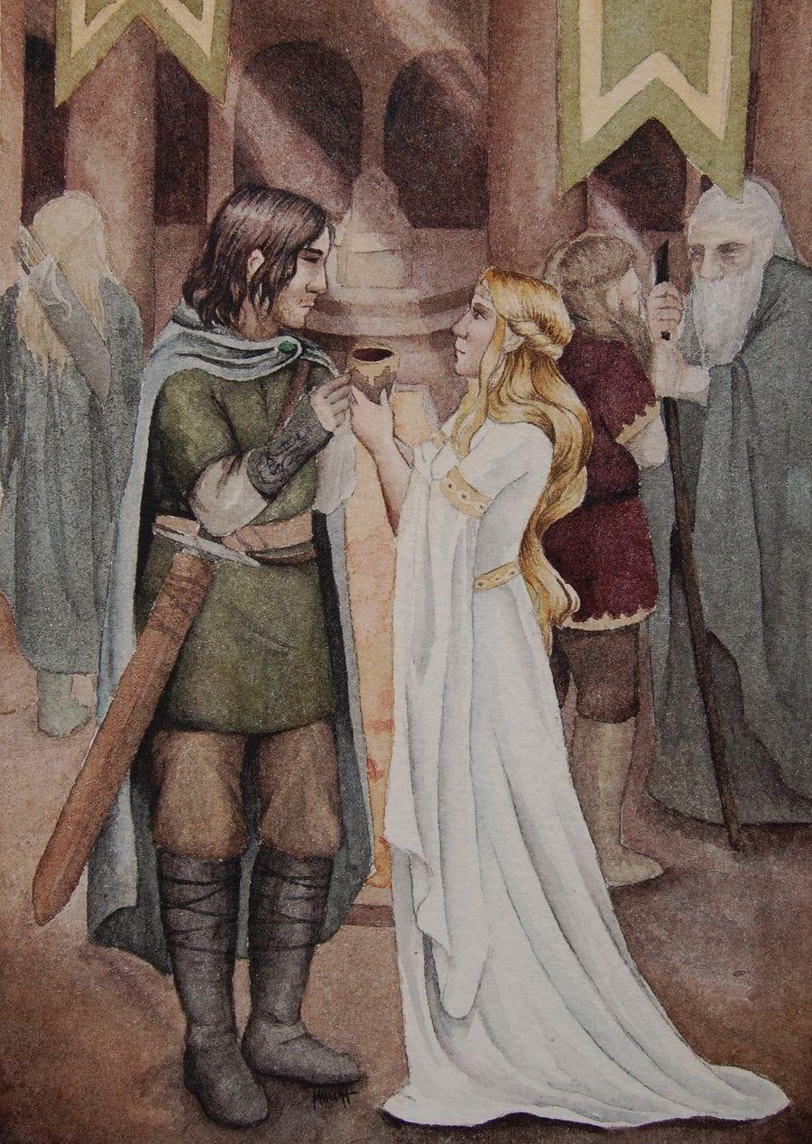 Aragorn and Eowyn by Lamorien on deviantART | Tolkien illustration, Art,  Illustration art