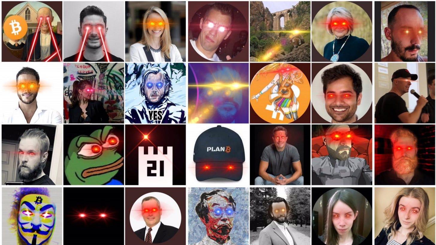 Laser Eyes Bitcoin Trend / #LaserRayUntil100K   Know Your Meme