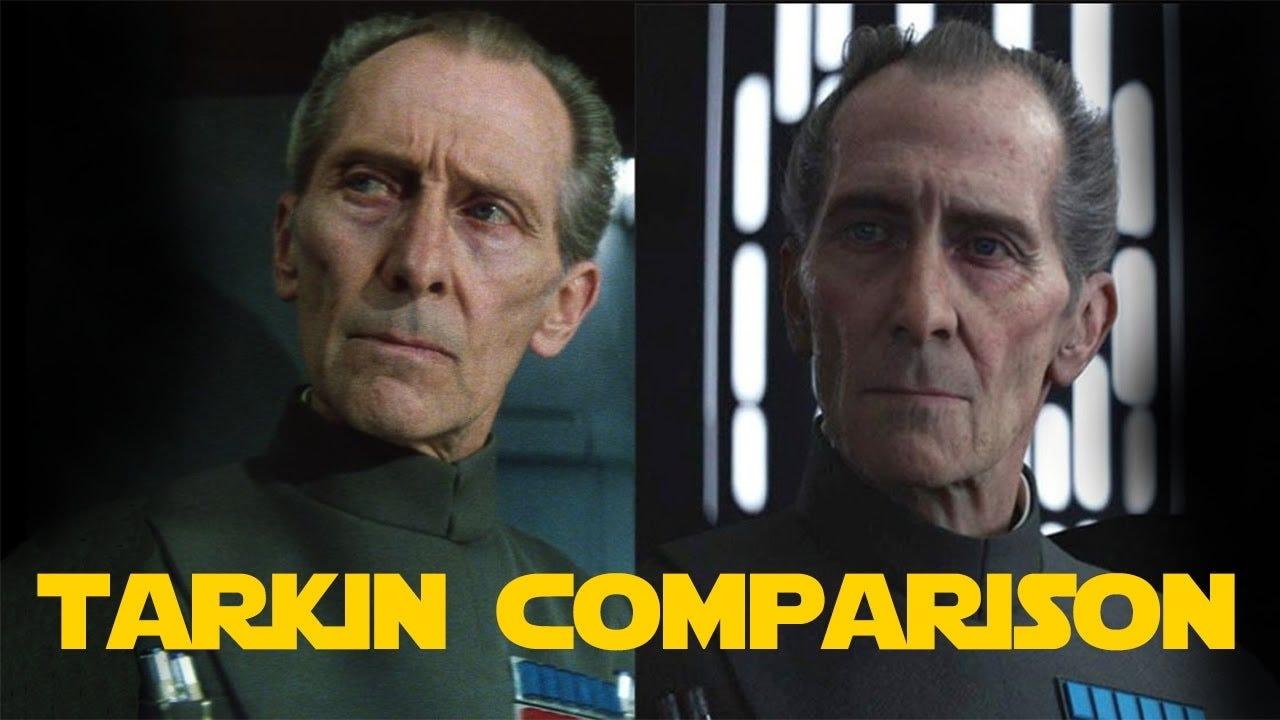 CGI Tarkin vs Real Tarkin | Comparison - YouTube