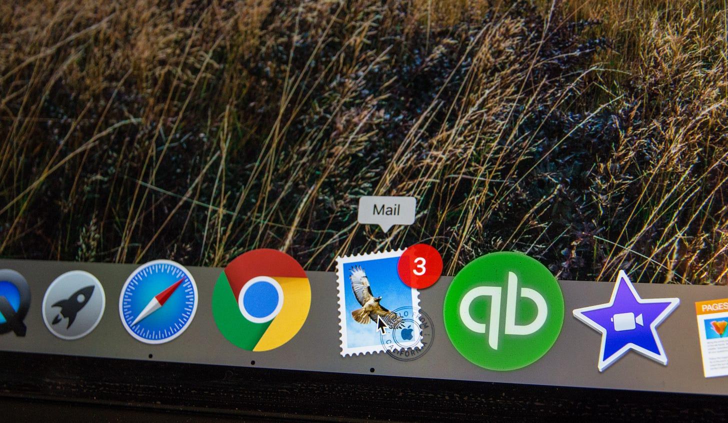 Photo of Apple Mail icon on the desktop. Stephen Phillips / Unsplash