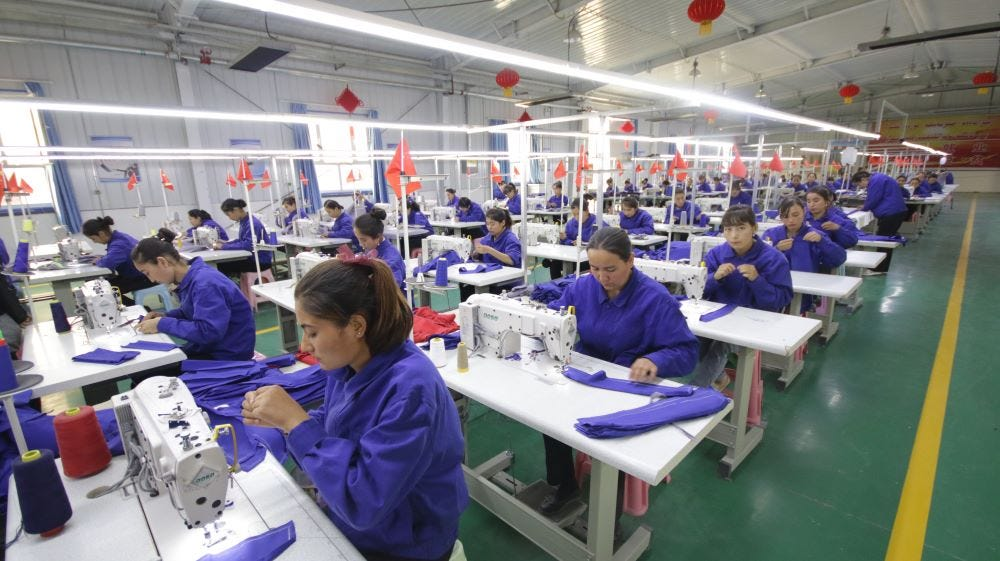 Widespread forced labor may be infiltrating the garment supply chain as a result of the Chinese government's actions against Muslims.