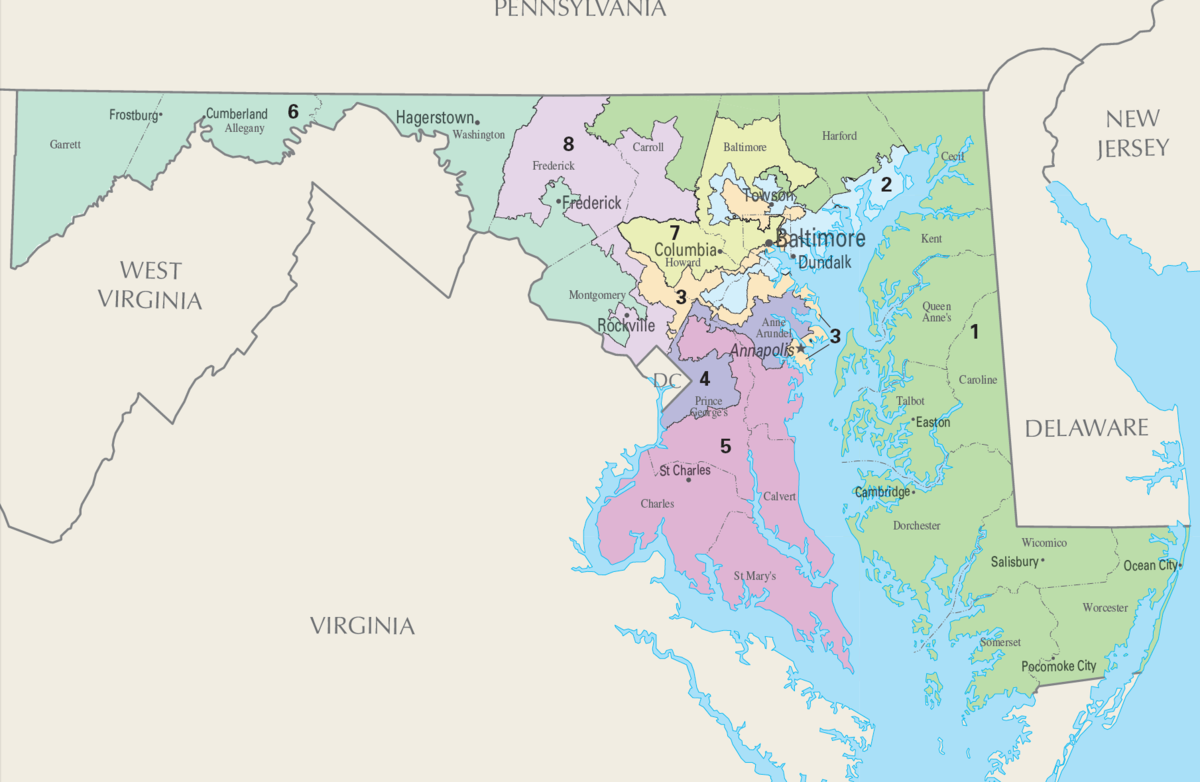 Maryland's congressional districts - Wikipedia