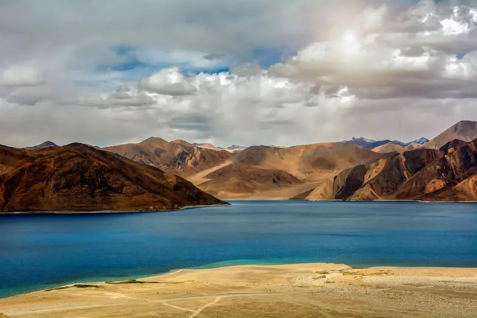 Pangong Lake in Ladakh, North India.