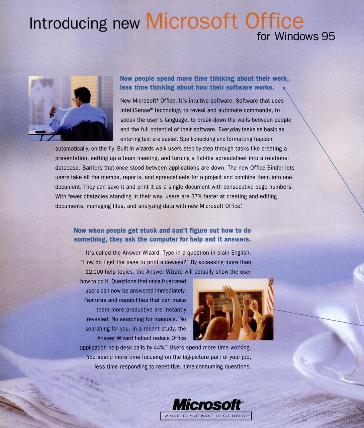 Introducing new Microsoft Office for Windows 95