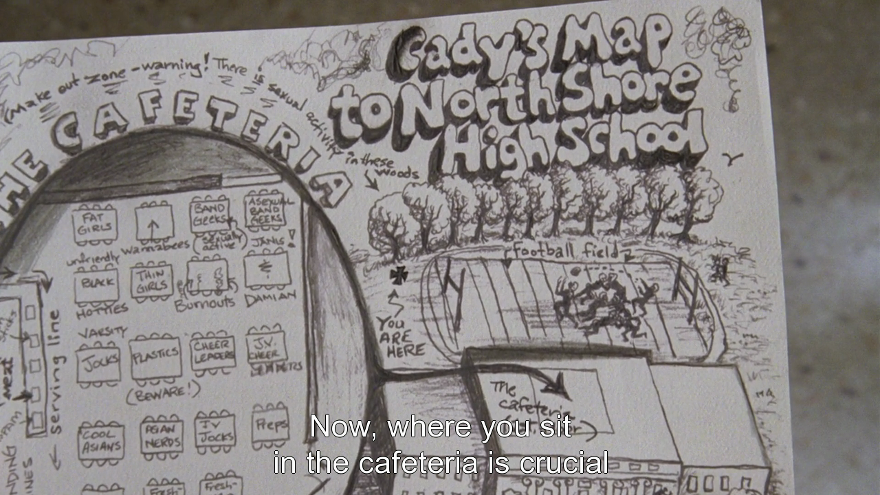 Movie Club, Cady's map to North Shore High School. p.s.: Did...