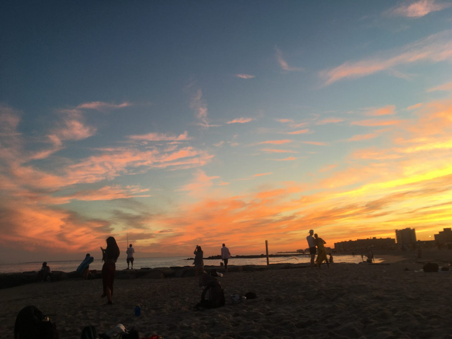 Photo by me: the end of a beautiful beach day; do NOT remember taking this ;)