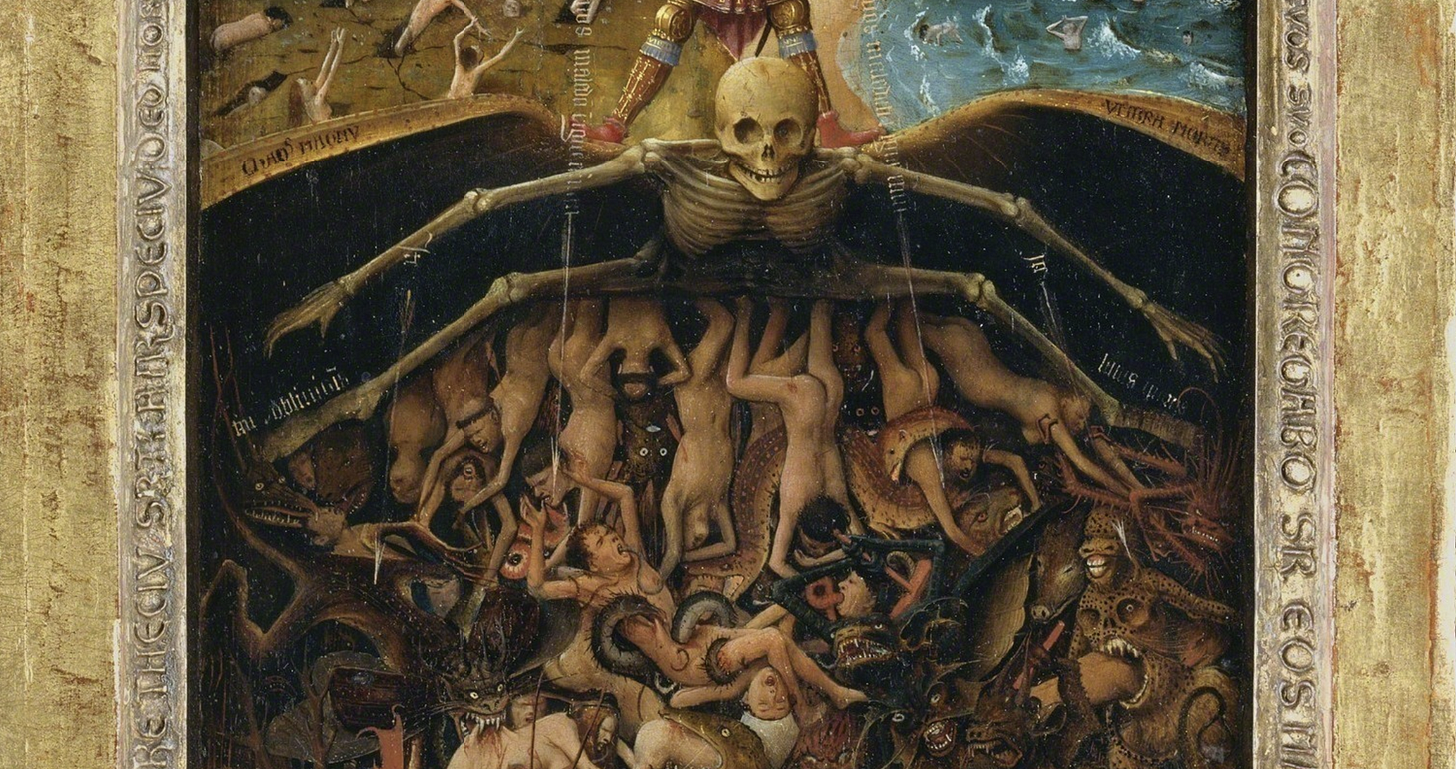 image of Jan van Eyck, Crucifixion and Last Judgement diptych for article by Larry G. Maguire