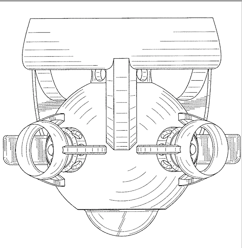Navy design patent for a marine vehicle with cameras.
