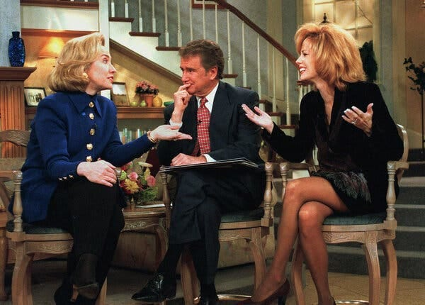 "Mr. Philbin and Kathie Lee Gifford interviewed Hillary Clinton in 1996, when she was the first lady. ""Live! With Regis and Kathie Lee"" was a fixture of morning television from 1988 to 2000."