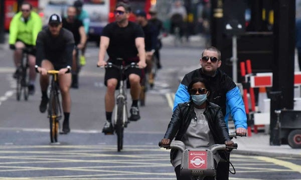 London cycling could increase tenfold after lockdown.