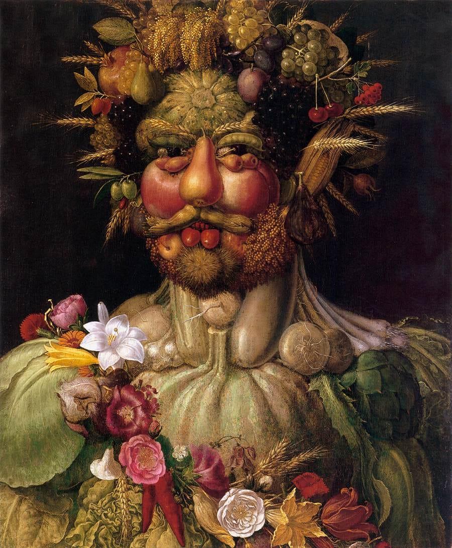 Vertumnus painting by Giuseppe Arcimboldo, 1590